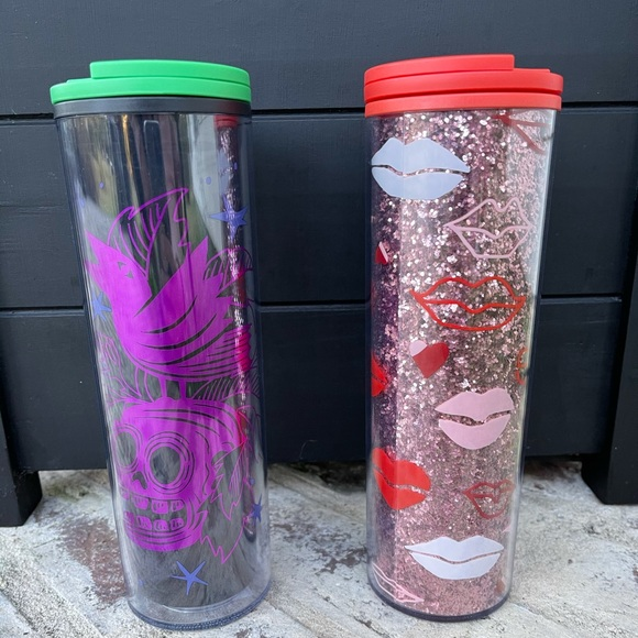 Starbucks Halloween and Valentines Tumblers